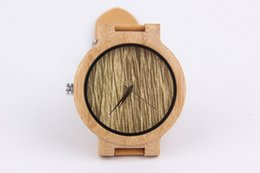 Wholesale Japanese Watches For Men - Handmade Bamboo Wooden Wristwatches with Leather Band Genuine Luxury Wood Watches for Men Quartz Japanese Movement