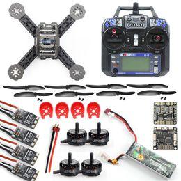 Wholesale Flysky Battery - DIY Toys RC FPV Drone Mini Racer Quadcopter Kit 190mm SP Racing F3 Deluxe Flight Controller 2200mah Battery Flysky FS-I6 F18893-G