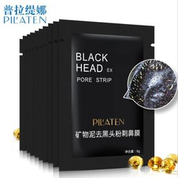 Wholesale pore cleaner mask - 100pcs lot PILATEN Black Mask Deep Cleansing Blackhead Remover Acne Face Mask Purifing Shrink Pores Skin Care