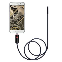 Wholesale Android 2m - New pc and android waterproof endoscope camera 2 in 1 7 mm lens 6 led Sensor Cable 1M 2M 5M 10M