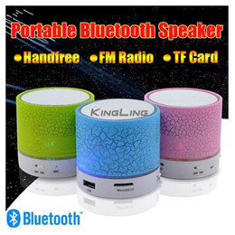 Wholesale Bluetooth Aux - Colorful LED Speaker Bluetooth Mini Speakers Portable Subwoofer Support FM radio Handfree AUX USB Port TF Card Speaker