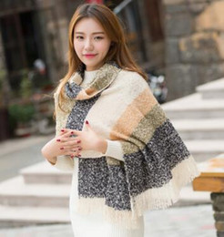 Wholesale Cashmere Scarfs Cheap - Free shipping!2016 New recommend women fashion winter hit warm pashmina shawl Christmas gift tassel scarfs cheap scarves for lady wholesale
