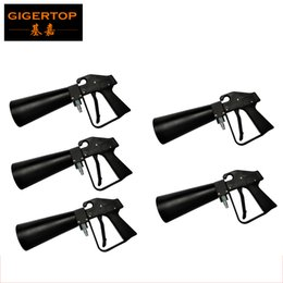 Wholesale Cooler Shots - Freeshipping 5 Pack Handhold Co2 Gun DJ Lights 3Meter Hose CO2 Jet Machine DMX Stage Effect Machine Shoot 6-8 Meter Cool Gas Jet TP-T01