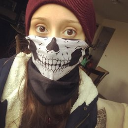 Wholesale Halloween Ghost Headbands - Magic Headband Death Knight Pirate Scarf Skull Skeleton Ghost Motorcycle Headwear Headband Neck Bandana Face Mask Halloween gifts
