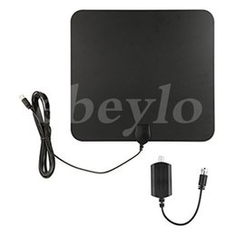 Wholesale Wholesale Digital Antenna - HDTV Indoor Antenna- 50 Miles Digital Long Range TV HD Antenna With Amplifier Signal Booster Upgraded Version Better Reception