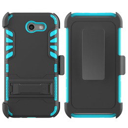 Pc hd à vendre-Kickstand Hard Back Cover pour LG Tribute HD / HTC Desire 530 / ZTE Tempo N9131 PC + Silicone + TPU 3 IN 1 Anti-shock Clip Protector