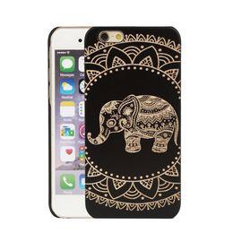 Wholesale Transparent Mobile Phones For Sale - U&I On Sales For Apple IPhone Ultra Slim Wood Cell Phone Case Black Rubber Coating Mobile Phone Case
