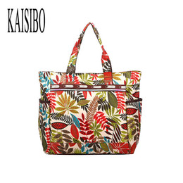 Wholesale Extra Large Fashion Tote Bags - Wholesale-New 2016 Women Handbags Shoulder Bag Floral Printing Nylon Nappy Fashion Extra Large Bags Totes Bag Bolsa Feminina 53*37*17cm