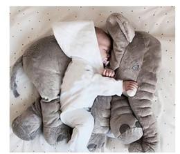 Wholesale Large Sized Cushions - New Fashion 60cm Large Size Plush Elephant Toy Kids Sleeping Back Cushion Elephant Doll Baby Doll Birthday Gift (Size: 60 cm, Color: Grey)