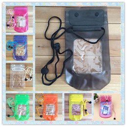 Wholesale Cheap Cell Phones Covers - Cheap Buckle Dry Bag Clear Waterproof Pouch Bag Protective Case Cover All Cell Phone Sports Universal Mobile Phone to 5.6 inch