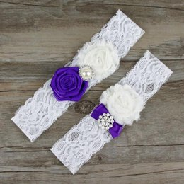 Wholesale Cheap Wholesale Xmas Gifts - in stock Free Shipping Lace Bridal Garters White Cheap Sexy with Crystal Beads Wedding Leg Garters Bridal Accessories Xmas Gift