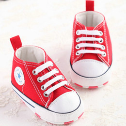 Wholesale Pretty Shoes - Baby Lovely Cute Canvas Shoes Pretty kids First Walkers Perfect for Protect foot With Cotton printing Sole 4 Colors Amazing for Gift