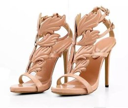 Wholesale White Wedding Low Heel Sandal - 2017 Hot Sale Sexy Shoes Woman High Heels Sandal Stiletto 12CM Heels Women Pumps Party Wedding Shoes Patent Leather Womens Shoes M88#