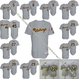 Wholesale Men s Pittsburgh Pirates Andrew McCutchen Eric Fryer Francisco Cervelli Jung Ho Kang Gerrit Cole Throwback Grey Jerseys
