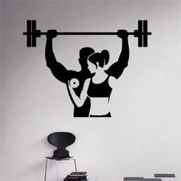 Arte sana online-Fitness Adesivo Allenamento Palestra Adesivo in vinile Stile di vita sano Interno di casa Sport Wall Art Murales Design di casa DIY