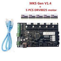 Wholesale Stepper Motor Controlled - Freeshipping 3D printer parts MKS Gen V1.4 control board +5PCS DRV8825 stepper motor compatible with Ramps1.4 Mega2560 R3