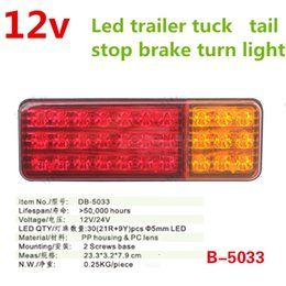 Wholesale 24 Trailer - 1pair red amber 12V 24 LED ATV Truck Trailer lamp Lorry Bus BRAKE Lamp REAR light TAIL light TURN INDICATOR external LIGHTS SUV