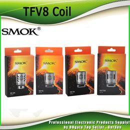 Wholesale Smok Coils - Authentic Smok TFV8 Coil Head V8-T8 V8-T6 V8-Q4 V8-X4 V8-T10 Turbo V8 RBA Replacement Coils For TFV8 Cloud Beast Tank 100% Original SmokTech