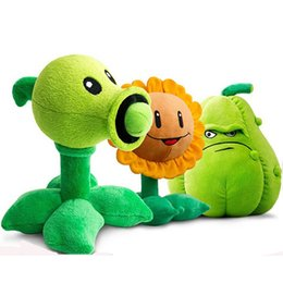 Wholesale Plants Zombies Plush Squash - 30CM Plants vs Zombies Pea Shooter Sunflower Squash Plush Toys Doll Soft Plush Toy Doll Game Baby Party toys birthday gift