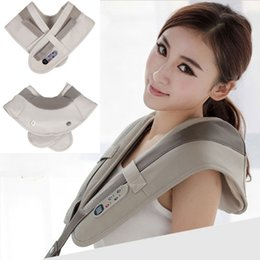 Wholesale cervical therapy - Household Multifunctional Shawl Neck Massage Shawl Cervical Back Device Body Massaging Neck Pillowws 10pcs lot Free DHL
