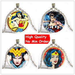 Wholesale Steampunk Wholesalers - Drop Shipping Wonder Woman Pendant Necklace Wonder Woman Necklaces Pendants Super Hero Gothic Steampunk Necklace Cheap Gift 174