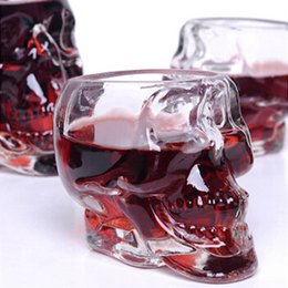 Wholesale Home Wares - 350Ml Skull Drinking Glasses Vodka Whiskey Shot Drinking Ware Home Bar Glasses Drink Cocktail Beer Crystal Cup