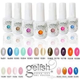 Wholesale Nail Gel Color Soak Off - Top quality Harmony Gelish 440 Colors 15ml Gel Polish Nail Accessories UV Color Gel Soak Off Nail Gel for Fedex b331