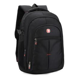 Wholesale Oxford Laptop Bag - Wholesale- waterproof oxford swiss Backpack Men 15 inch Laptop bag sac a dos men backpacks Travel school outerdoor Business bags