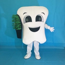 Wholesale Tooth Mascot Costumes - New tooth mascot costume party costumes fancy dental care character mascot dress amusement park