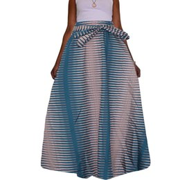 Wholesale Traditional Ethnic Dress - 2017 Traditional African style Maxi Vintage Bohemian Ethnic Pattern Hippie Boho Long Skirt Swing Dress Skirts