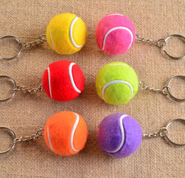 Wholesale Tennis Ball Keychain - Brand new Key Pendant Tennis Pendant Keychain Sports Keychain KR175 Keychains mix order 20 pieces a lot