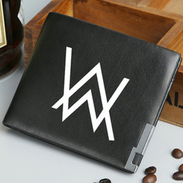 Wholesale Rock Band Bag - Alan Walker wallet Rock band purse Music star short long cash note case Money notecase Leather burse bag Card holders