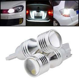 Wholesale Toyota Led License Plate Lights - wholesale High Power 30W Car Auto T10 W5W CREE chips LED Backup Reverse Parking Light Bulb For Toyota Honda Nissan Mazda Mitsubishi