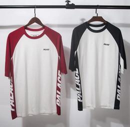 Wholesale Gothic Black Long Sleeve - Kanye West palace T-shirt Fog Longline Ribbon T shirt Black Brand Clothing Hip Hop Fear Gothic Tshirt Men Tee