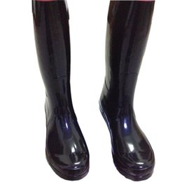 Wholesale Men Women RAINBOOTS fashion Knee high rain boots waterproof welly boots Rubber rainboots water shoes rainshoes tall and short colors