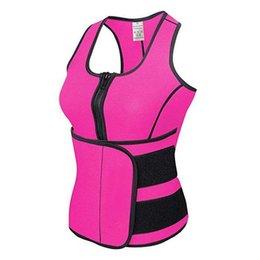 Wholesale Sauna Body Shaper - 4 Colors NEW Neoprene Sauna Vest Body Shaper Slimming Waist Trainer Hot Shaper Summer Workout Shapewear Adjustable Sweat Belt Corset