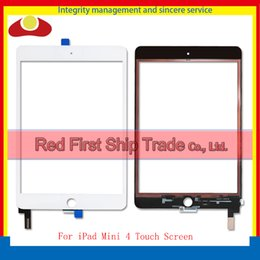 """Wholesale Ipad Mini Lenses - High Quality 7.9"""" For Ipad Mini 4 A1538 A1550 Touch Screen Digitizer Sensor Panel Glass Lens With Adhesive Black White"""