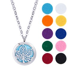 """Wholesale Hearts Padded - Essential Oil Diffuser Necklace Locket Pendant Hypo-allergenic316L Surgical Grade Stainles Jewelry with 24""""Chain and 10 Washable Pads"""