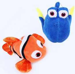Wholesale Wholesale Finding Nemo - 20cm 8 inches finding nemo Clownfish Plush Doll Stuffed Toy For Baby Gifts fish animal plush toys