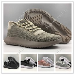 Wholesale Cheap Leather Fur Boots - Free Shipping Cheap Hot Sale Tubular Shadow 350 3D Running Shoes for Men sneakers Women Knit Core Black White Cardboard Sneakers 350 Boots