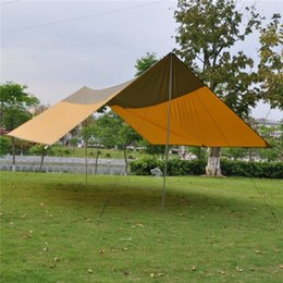 Wholesale Event Outdoor Tent - Outdoor Camping Tarp Tent Shelter Super Large Beach Picnic Garden Event Sun Shade Canopy Awning with Stand and Rope