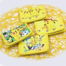 Wholesale pokemon coins - Poke go Pikachu canvas wallet Purse 4 Style Children Poke Ball Pikachu Charmander Bulbasaur Jeni coin purse JC19