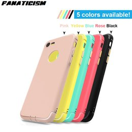 Wholesale Rose Dust Plug - 1.2mm Soft TPU Silicone Matte Case For iphone7 Plus iphone6 Plus iphone 7 6S Plus Bright Edge Shockproof Cover With Dust-proof Plug