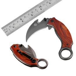 Couteau pliant poche pliante en Ligne-Gros X52 Karambit Claw Couteau Tactique Pliant Titanium 5Cr13 57HRC En Plein Air Randonnée Chasse Survie Pocket EDC Gear B96L