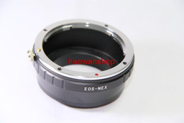 Wholesale Nex Lens Adapters - Wholesale- EF lens to E mount adapter ring for NEX NEX-7 NEX-5N NEX-3 NEX-5 NEX-VG10