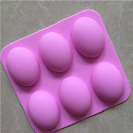 Wholesale Gel Soap - 6 with goose egg - shaped silicone soap mold silica gel cold soap mold silica gel cake mold