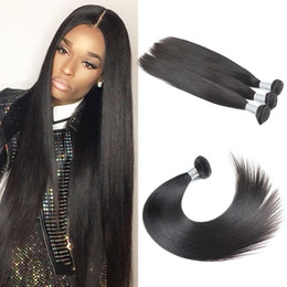 Wholesale Hair Extensions Machine Price - Brazilian Straight hair weaves 1pcs lot Uglamhair bundles Natural Color 100% human hair extension super soft and factory price Free Shipping