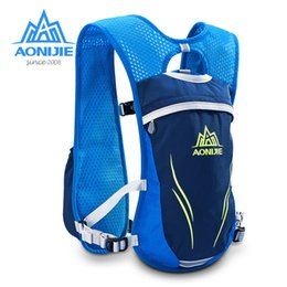 Wholesale Outdoor Vests For Men - Wholesale- AONIJIE E885S Nylon 5.5L Outdoor Running Bags Hiking Backpack Vest Marathon Cycling Backpack for 250ml 350ml Water Kettle