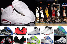 Wholesale Women Shoes Silver Rhinestones - Wholesale 6 VI Mens Basketball Shoes Retro Infrared 6s Sneakers Women Men 6 VI Sport Basketball Shoes GS Valentine's Day Shoes 4-5-10-12-13