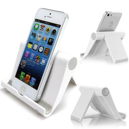 Wholesale Wholesale Desk Accessories - Lazy Mobile Cell Phone Stand Holder Mount Bed Desk Office Table Smartphone Accessory Desktop Foldable Soporte Movil For Lg G6 G5